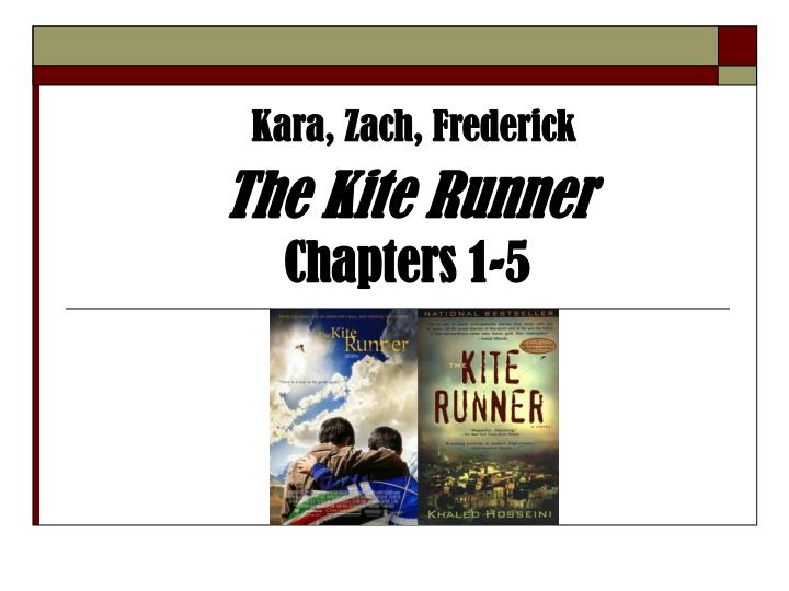 the kite runner chapters 1 5 n.
