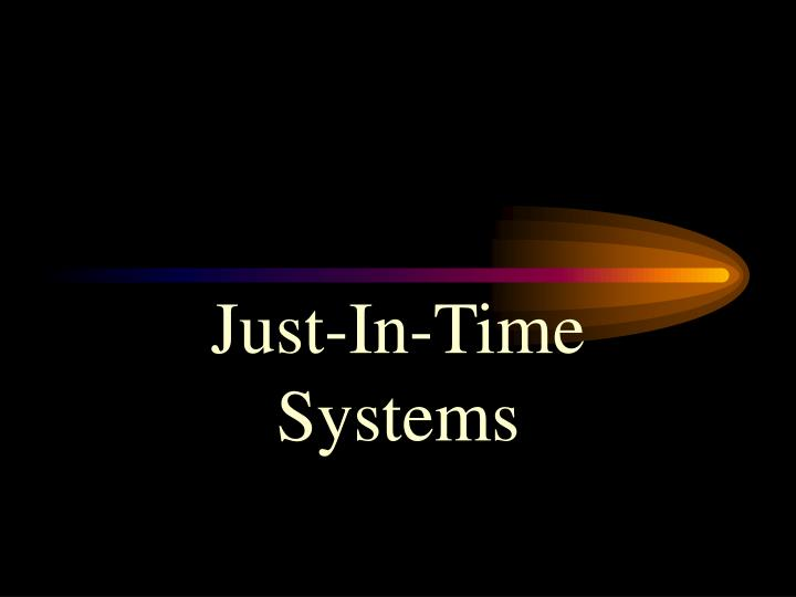just in time systems n.
