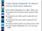 little charlie chipmunk by helen c lecron book source unknown