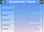 sample unit travel