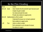 in the fire grading