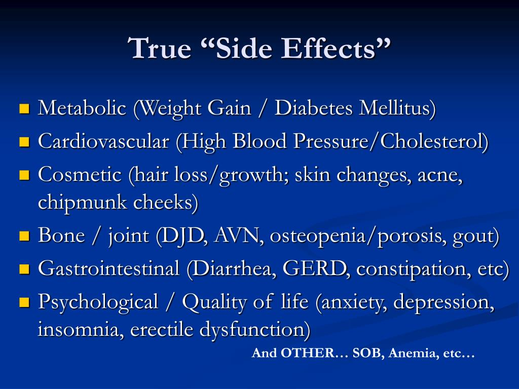 "True ""Side Effects"""
