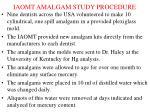 iaomt amalgam study procedure