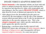 innate versus adaptive immunity