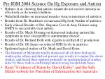 pre iom 2004 science on hg exposure and autism