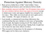 protection against mercury toxicity