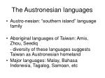 the austronesian languages