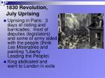 1830 revolution july uprising