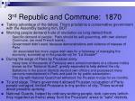 3 rd republic and commune 1870