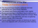 consequences of the war treaty of frankfurt 1871
