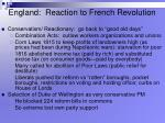 england reaction to french revolution