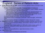 england series of reform acts