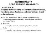 south dakota core science standards46