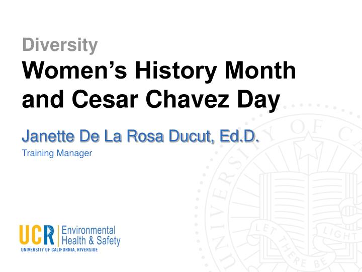 diversity women s history month and cesar chavez day n.