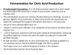 fermentation for citric acid production1