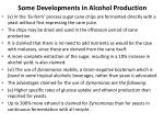 some developments in alcohol production1