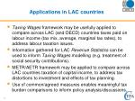 applications in lac countries