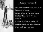 god s firewood