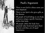 paul s argument