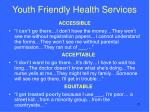 youth friendly health services