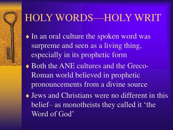Holy words holy writ2