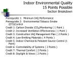 indoor environmental quality 15 points possible section breakdown