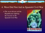4 west did not aid in spanish civil war