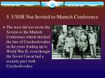 5 ussr not invited to munich conference