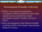 governments friendly to soviets