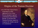 origins of the truman doctrine
