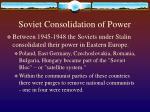 soviet consolidation of power