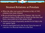 strained relations at potsdam