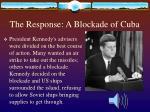 the response a blockade of cuba