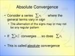 absolute convergence