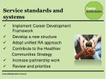 service standards and systems