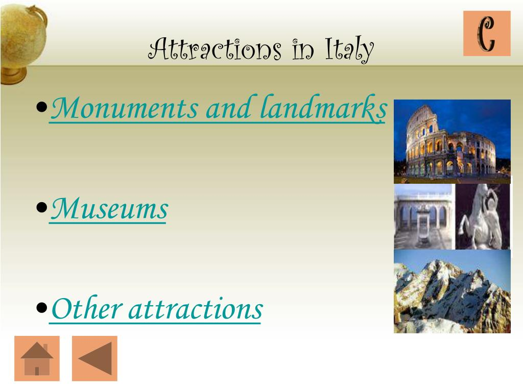 Attractions in Italy