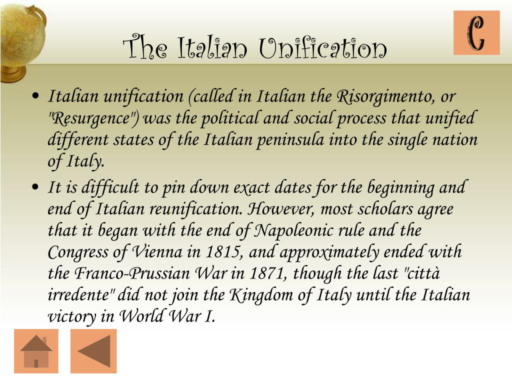 The Italian Unification