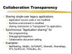 collaboration transparency