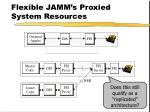 flexible jamm s proxied system resources