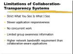 limitations of collaboration transparency systems