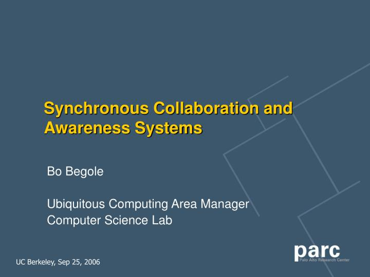 synchronous collaboration and awareness systems n.