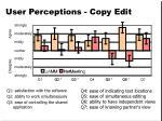 user perceptions copy edit