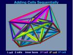 adding cells sequentially