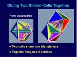 gluing two steiner cells together