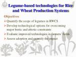 legume based technologies for rice and wheat production systems