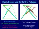 cubic b zier and its control polygon