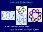 links and linked knots