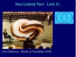 two linked tori link 2 2 1