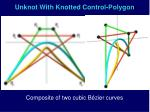 unknot with knotted control polygon