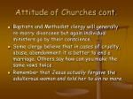 attitude of churches cont